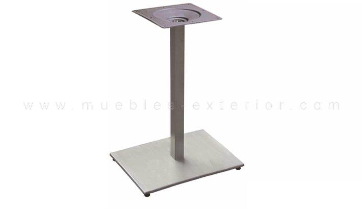 Pie de mesa de terraza rectangular acero - Pies para mesas ...