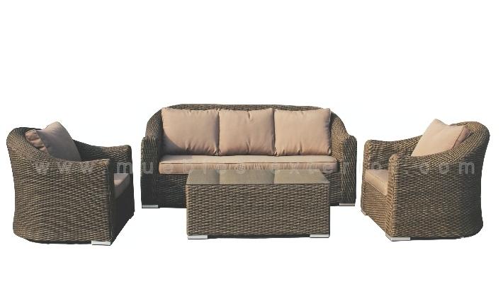 Conjunto de sof s exterior completo for Sofa exterior de obra