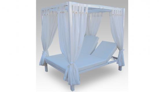 cama balinesa de aluminio reclinable