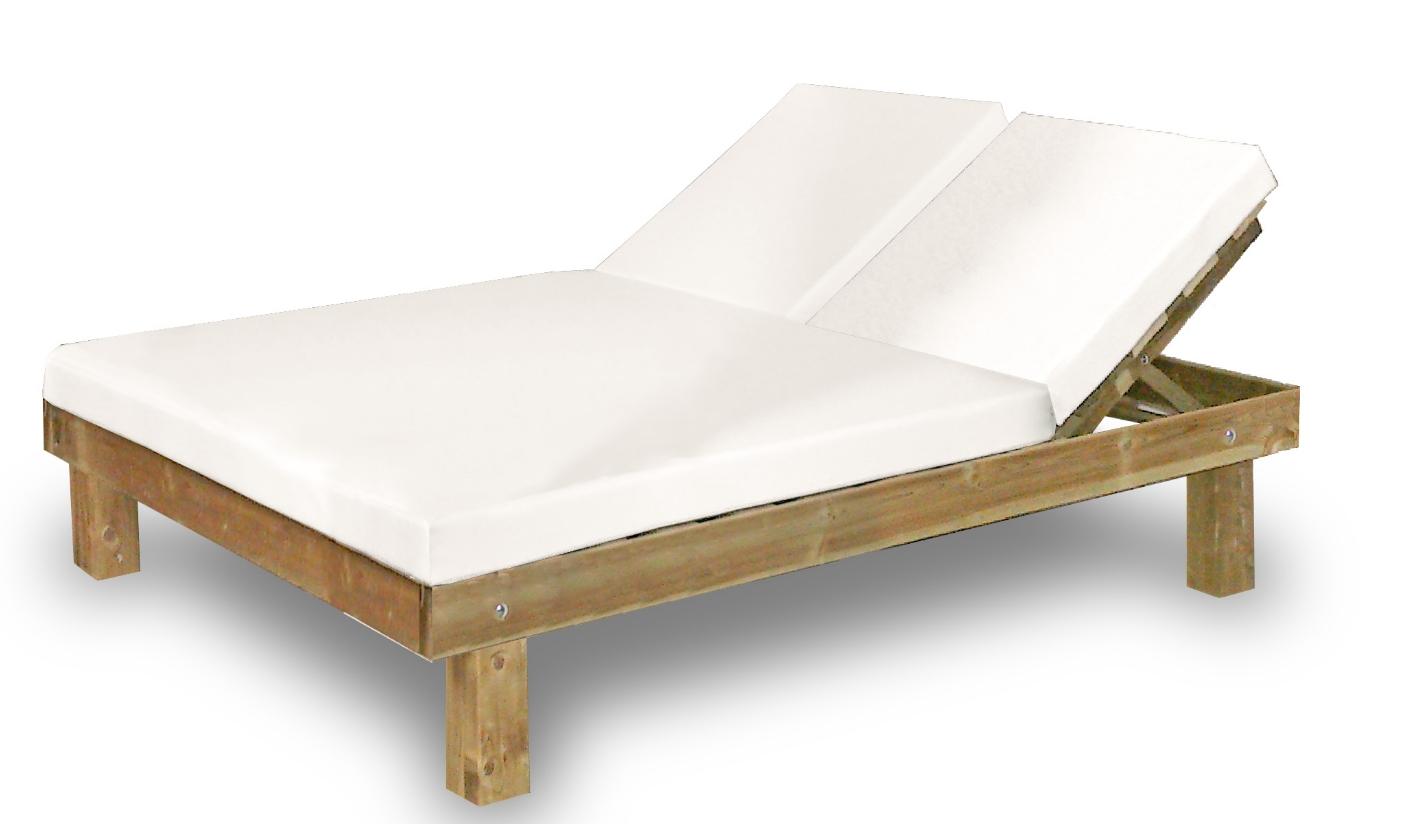 Cama de madera exterior cama jard n balinesa varios for Cojines jardin
