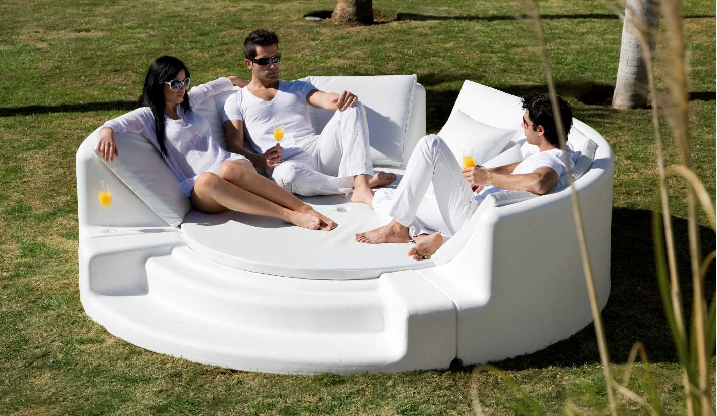 "Chill Out circular con posibilidad de luz ""Circle"""