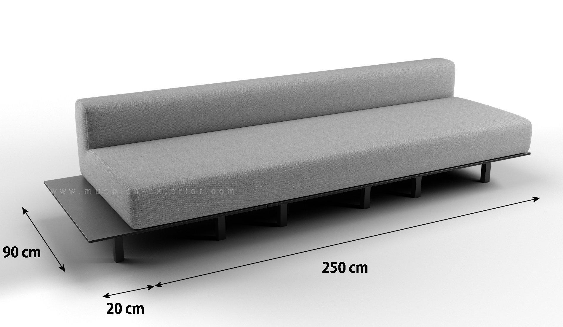 M dulo mueble de jard n central platform sin brazos 4 5 for Cojin para sofa exterior
