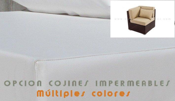 Cojines impermeables para muebles de jardin rinconera - Cojines para muebles de jardin ...