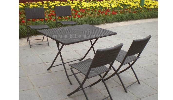 Set muebles de jard n baratos for Mesas y sillas para 4 personas