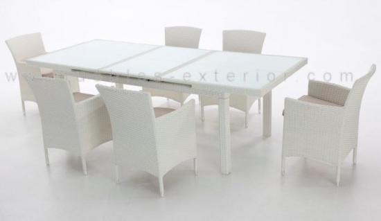 Muebles terraza plastico blanco 20170728200514 for Sofa exterior wallapop
