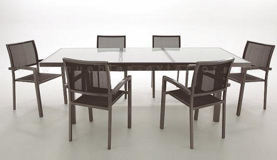 Muebles de jard n de aluminio for Mesas de terraza y jardin baratas