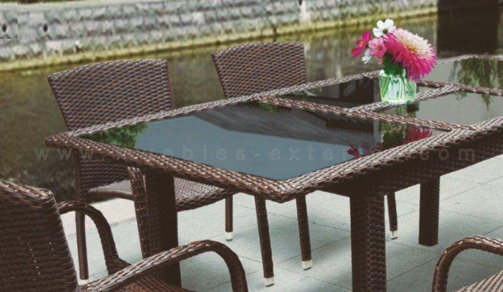 Mesa de jard n extensible matar 152 210x90 cm for Mesa de jardin extensible