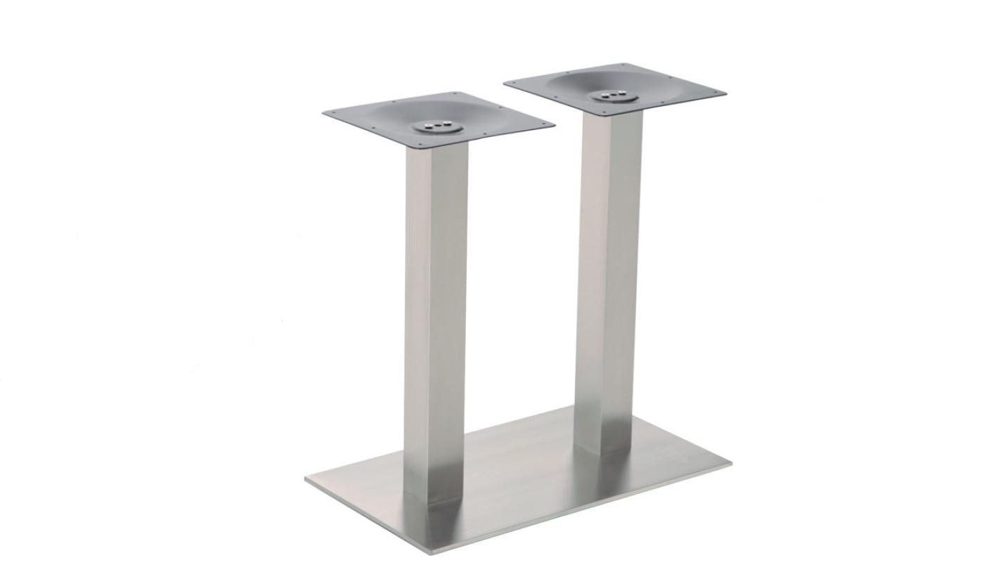Pie de mesa en acero inox rectangular - Pies para mesas ...