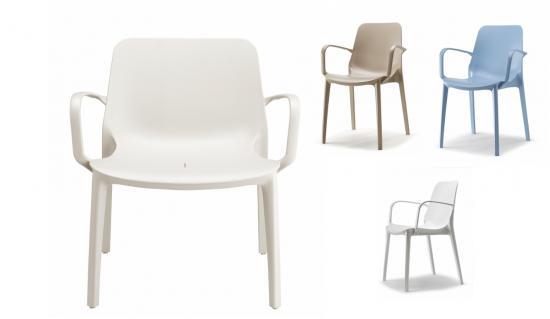 Sillas polipropileno exterior e interior - Muebles de resina para exterior ...