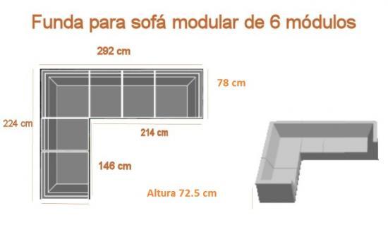 Sof s de jard n por m dulos asturias - Funda sofa exterior ...