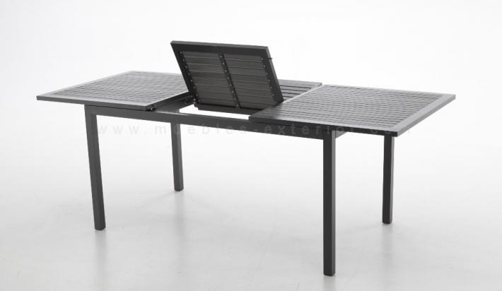 Mesa ampliable terraza via 152 210 x 90 cm - Mesas de exterior de resina ...
