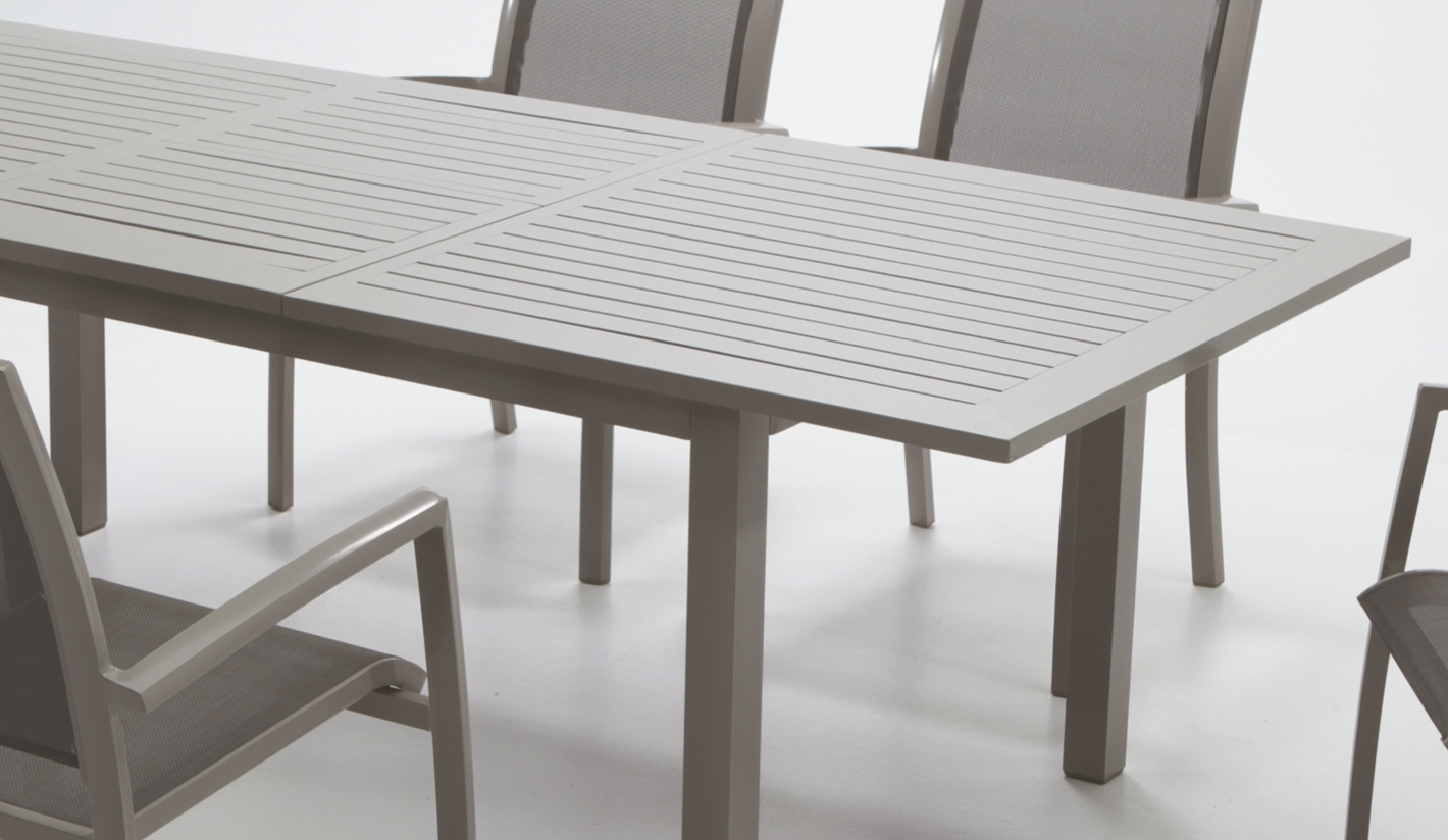 Mesa extensible thalia for Muebles exterior aluminio
