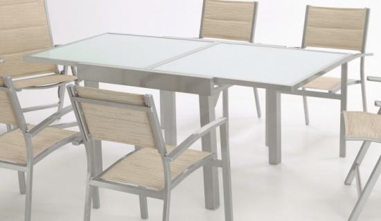 Mesa wengue extensible 90x90 for Muebles exterior segunda mano
