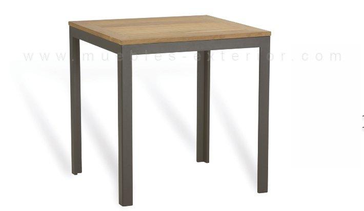 Mesa de jard n sobre de teca 70x70 for Mesa 70x70 madera