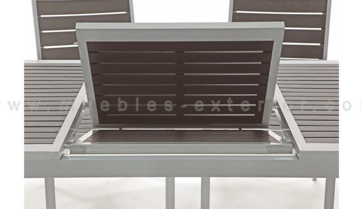Mesa de jard n extensible for Muebles de jardin de resina