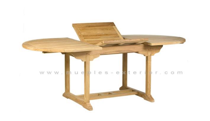 Mesa de teca ampliable - Mesas de teca exterior ...