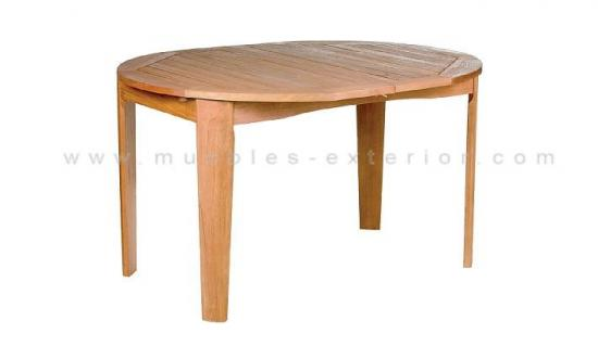 Muebles de exterior de madera - Mesa de madera exterior ...