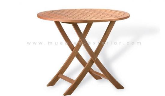 Muebles de exterior de madera - Mesas de terraza plegables ...