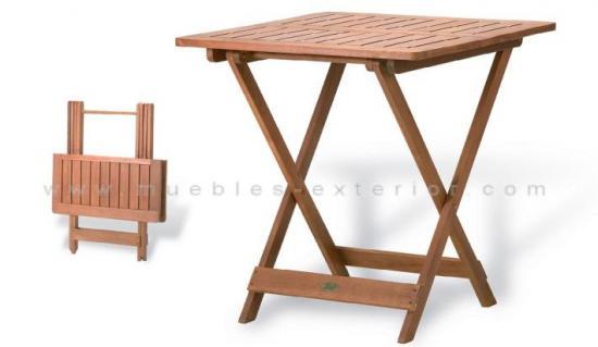 Mesas de exterior jard n y terraza en muebles exterior for Mesa 70x70 madera