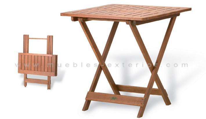 Mesas de teca plegables for Muebles terraza exterior