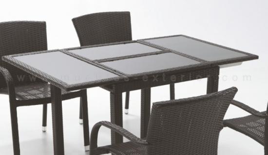 Mesas de jard n mesas de exterior a precios baratos - Mesas de teca exterior ...