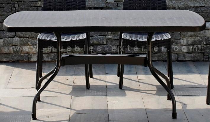 Mesa de terraza tortosa 162x95 for Mesas de terraza plegables