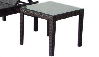 mesa de rattan de jardin baja / lateral