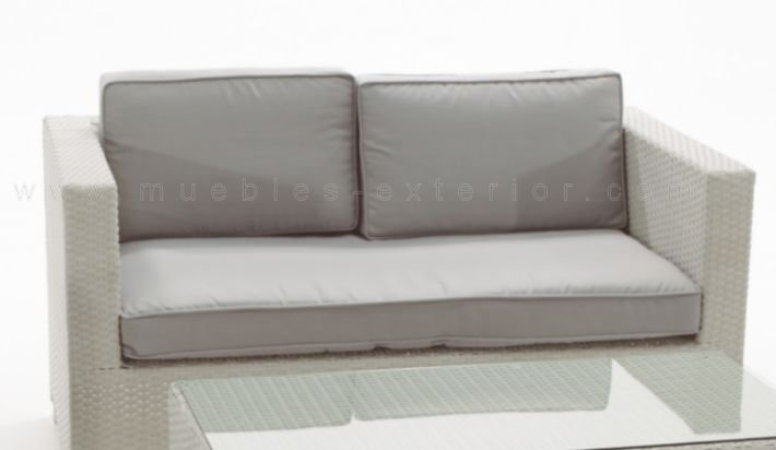 Sofa de jard n 2 plaza sevilla for Sofa exterior blanco