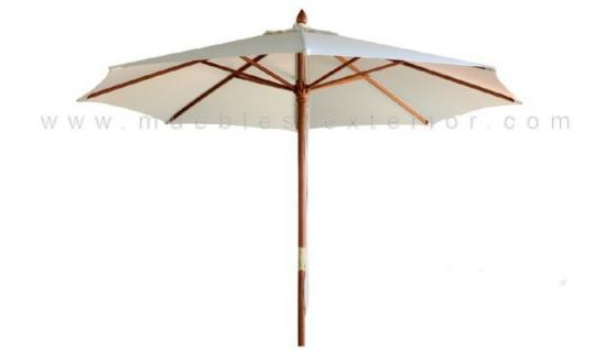 Parasoles sombrillas parasoles aluminio for Recambio tela parasol 3x3