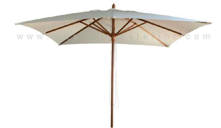 Parasol madera 3x3 for Recambio tela parasol 3x3