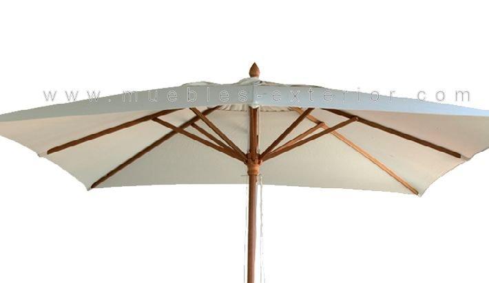 Parasol madera 3x2m for Sombrillas de madera para jardin
