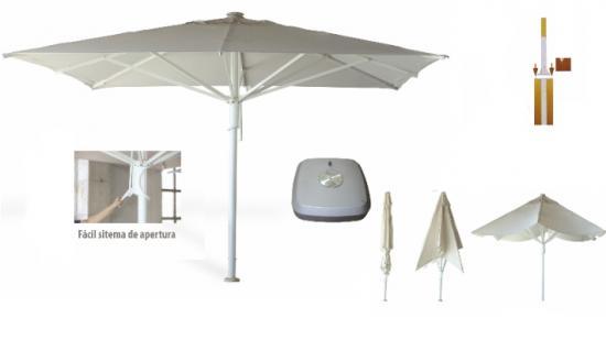 Parasoles sombrillas parasoles aluminio - Pie para sombrilla ...