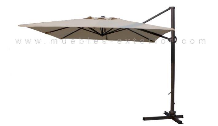 Parasol exc ntrico 3x3m giratorio - Recambio tela parasol ...