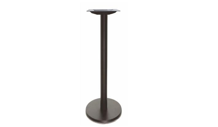 Pie para mesa alta de terraza en hierro negro for Articulos terraza