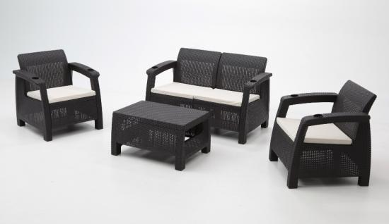 Muebles de resina for Set de resina de jardin trenzado barato
