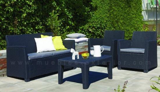 Los muebles de jard n baratos s lo en muebles exterior for Set de resina de jardin trenzado barato