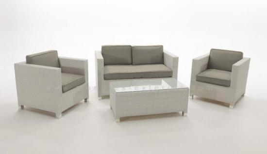 Mobiliario de exterior color blanco for Sofa exterior oferta