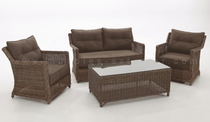 Set muebles de exterior ourense completo for Muebles terraza exterior