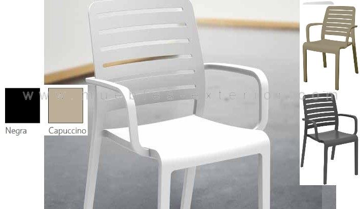 Silla de resina manhattan for Mobiliario jardin resina