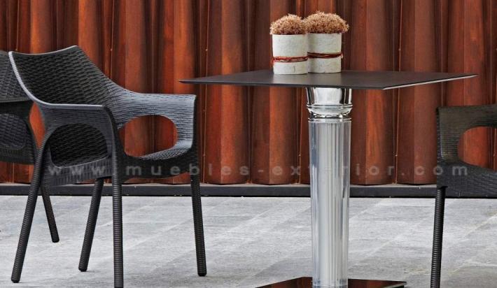 Muebles de Jardín » Silla de terraza polipropileno Tortosa patas