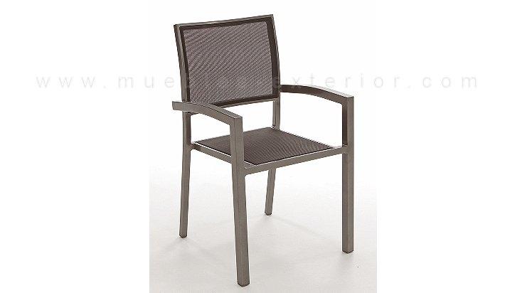 Silla de terraza gij n for Muebles de aluminio para jardin