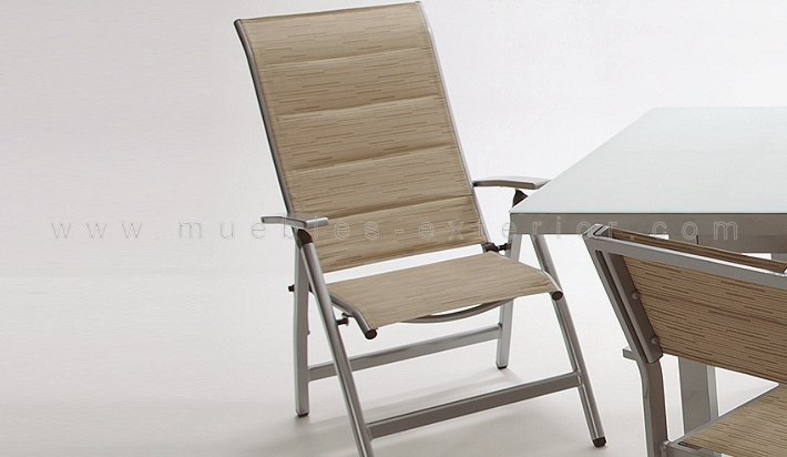 Sill n terraza reclinable torrevieja for Sillon reclinable exterior
