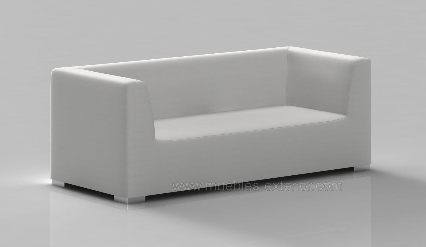 Sofa jard n impermeable 3 plazas 238 cm for Sofa exterior tres plazas