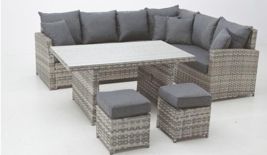Sofas jardin sillon sofa colgante mimbre jardin muebles for Set muebles jardin baratos