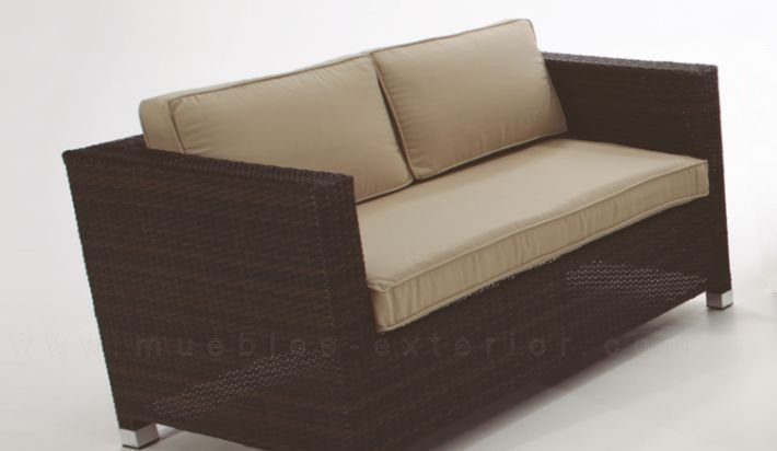 Sofa de jardin madri 2 plazas for Sofa exterior aluminio