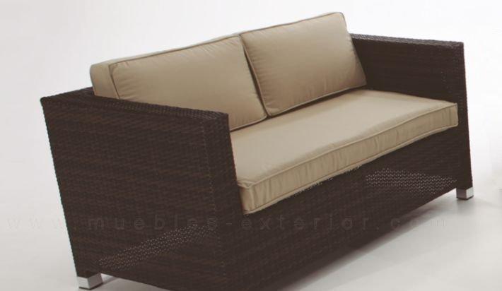 Sofa de jardin madri 2 plazas - Cojines para sofas de jardin ...