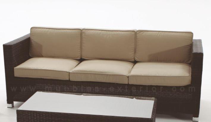 Sofa de jardin madri 3 plazas for Jardin y exterior muebles terraza