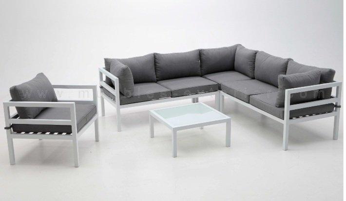 Sof exterior modular vilanova for Muebles de exterior aluminio