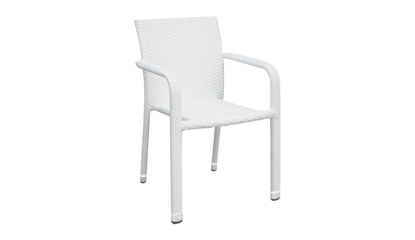 Silla de terraza blanca sparkly for Sillas para terrazas baratas