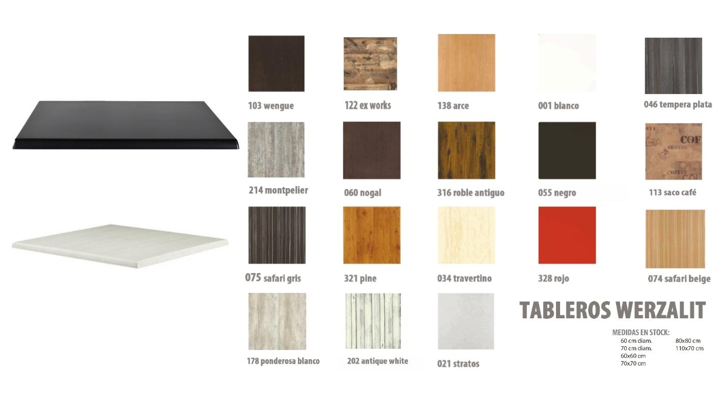 Tablero werzalit para mesa exterior e interior cuadrado 90 cm for Comprar muebles exterior